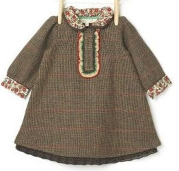 Molly n Jack Herringbone Dress in Brown