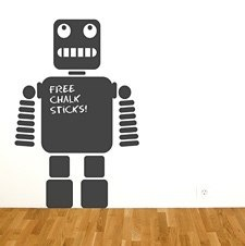 robot chalkboard wall sticker