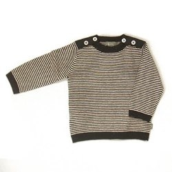 Kidscase - EASY knitted sweater (natural/black)