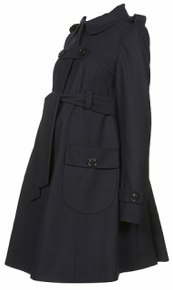 Topshop Maternity Belted Coat side view