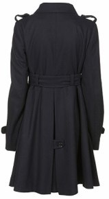 Topshop Maternity Belted Coat back view