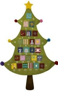 Wall Hanging Felt Tree Advent Calendar