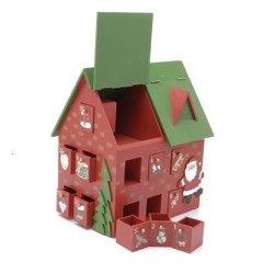 Wooden Advent Calendar House