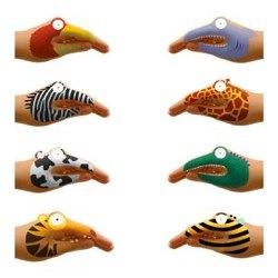 animal hands temporary tattoos for talking hands