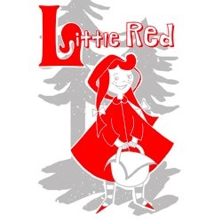 red riding hood print by the yellow house