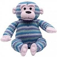 Knitted Monkey with Rattle