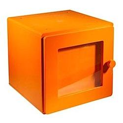 orange storage cube by vertbaudet