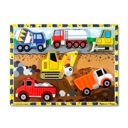 melissa and doug chunky puzzles construction