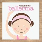 ballerina birthday card by showler and showler