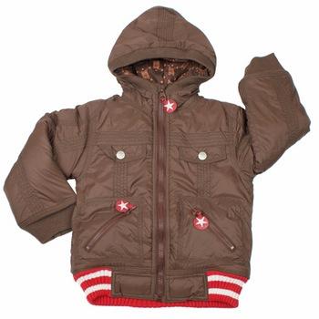 Brown Hooded Jacket by Kik*Kid