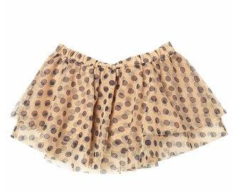Topshop Mini Spot Mesh Skirt