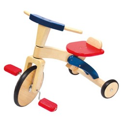 Wooden Pedal Trike by Plan Toys