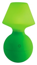 green wobble lamp by habiat