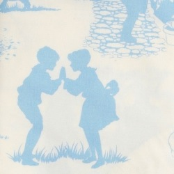 Fitted cot bed sheet - Blue Toile