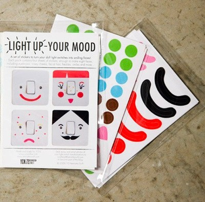 Light Up Your Mood Light Switch Stickers