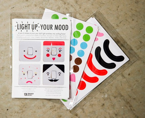 Light Up Your Mood lightswitch stickers by Henrietta Swift