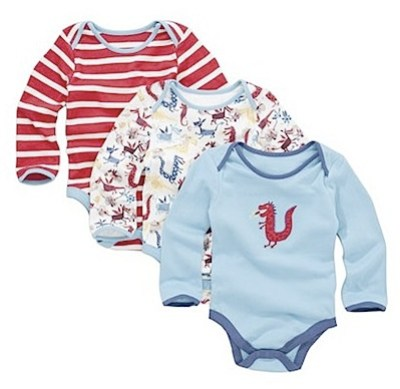 John Lewis Baby Dragon Long Sleeve Sleepsuits