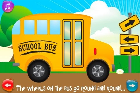 wheels on the bus iphone screenshots