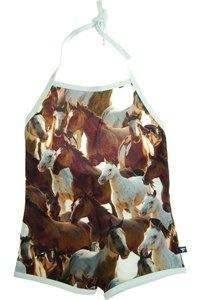 Horse print Twenties swimming suit by Wild