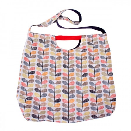 Orla Kiely Olive and Orange Stem Print Shopper Bag - SALE 50% OFF!