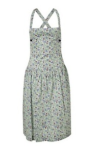 Green Liberty Print Apron Dress, Cacharel Liberty Print