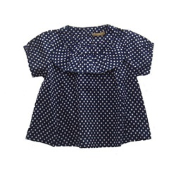 Gold - BETH blouse (polka dots)