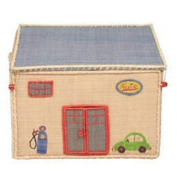 Rice Small Garage Toy Basket