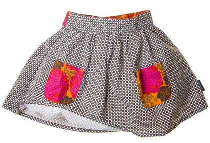 Patterned woven skirt by PO.P