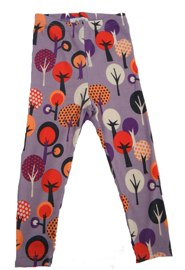Green Cotton fancy forest organic cotton printed leggings ( Aisha) - Tootsie and Fudge