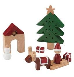 MUJI Wooden Christmas Play Set