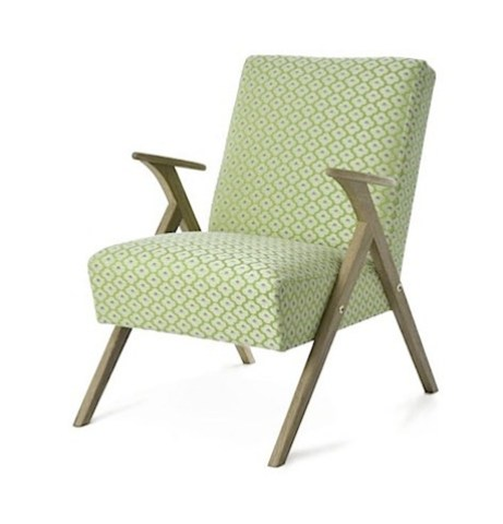 Theodore Retro Chair in Green Print