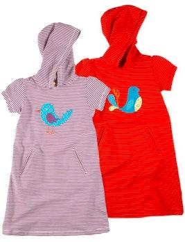 green kids HOODED T-SHIRT DRESS