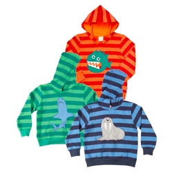 STRIPED MID-WEIGHT HOODY by green kids
