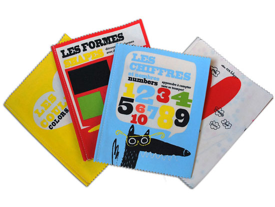 French cloth books from Shak Shuka les fomes