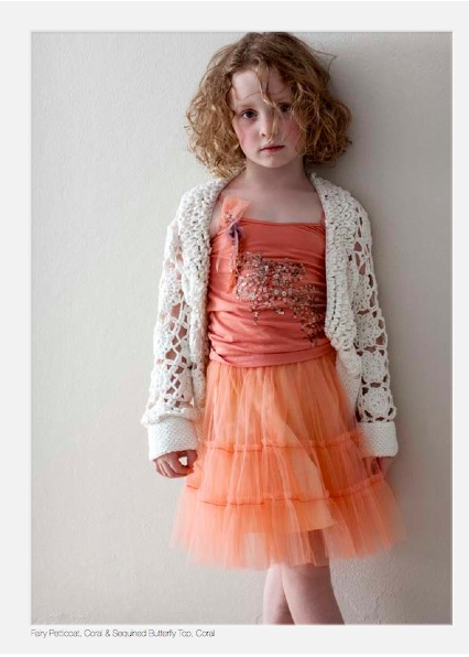 fairy petticoat and coral and sequinned butterfly top by tutu du monde