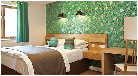 Poppy lodge bedroom at Ribby Hall Village
