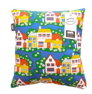 Mini Moderns sewn sequel cushion village