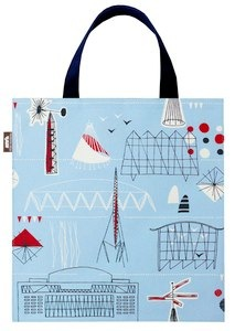mini moderns blue festival bag