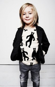 Mini Rodini Bears L_S Raglan by Mini Rodini