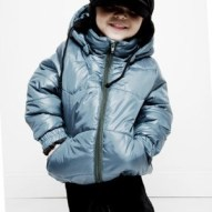 Mini Rodini Petrol puffer coat