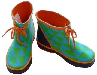 Ce La Vi pierrot clown check wellies
