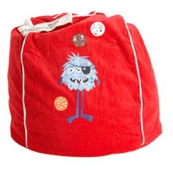 Red Captain Shaggy Beanbag from Monster Couture