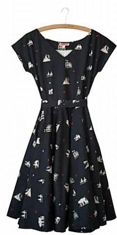 Grace women's dress Tea Party, navy