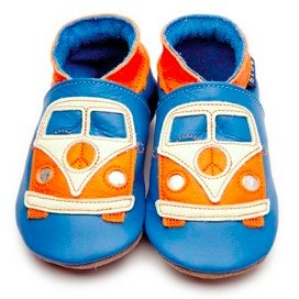 inch blue campervan shoes at Juicytots