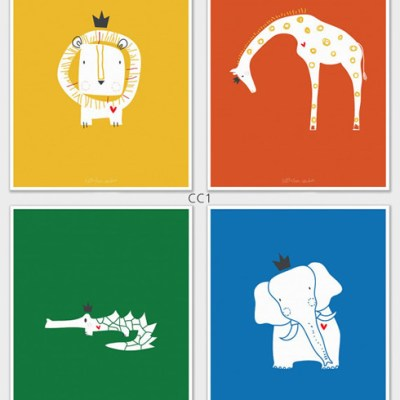 LittleLion Studio Royal Safari prints