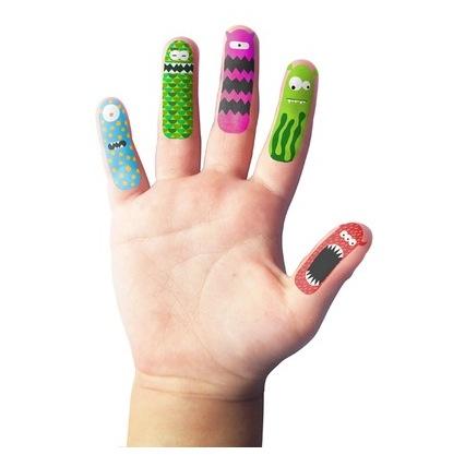 Finger Monster Tattoos