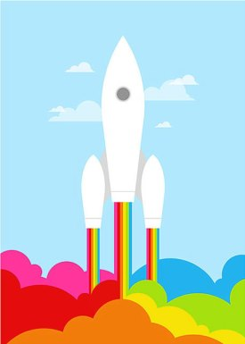 Retro Rocket by Yumalum