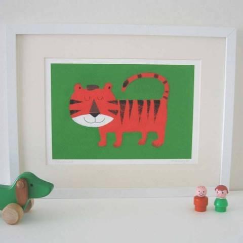 String Tiger print
