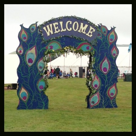 Camp Bestival welcome arch