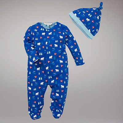 Hot on the high street: John Lewis Baby woodland sleepsuit